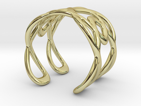 Cuff Bracelet Weave Line B-013 in 18k Gold Plated