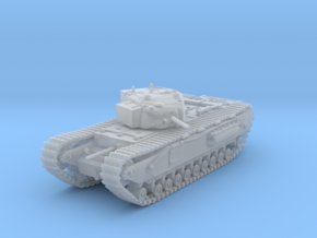 1/120 (TT) British Army Churchill I Heavy Tank in Smooth Fine Detail Plastic