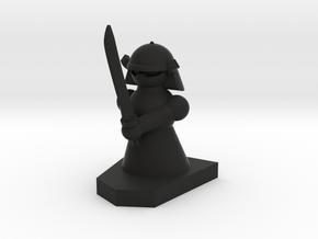 Knight / Ritter in Black Natural Versatile Plastic