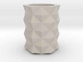 Prism Vase in Natural Sandstone