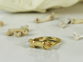 Bone Ring (purchase through Etsy only!) in Polished Brass