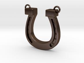 horseshoe in Polished Bronze Steel: Medium