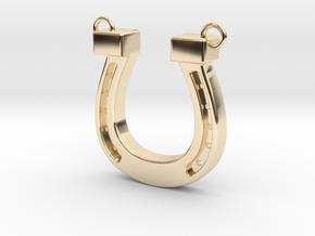 horseshoe in 14K Yellow Gold: Medium