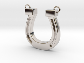 horseshoe in Rhodium Plated Brass: Medium