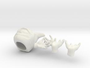 Alien monarch in 1:6 scale in White Natural Versatile Plastic