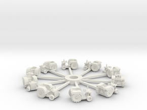 Tractorandsweepsnew in White Natural Versatile Plastic