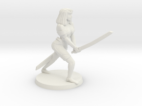 Blade Mistress Bree in White Natural Versatile Plastic