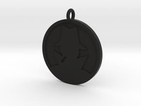 Mystery Man Pendant in Black Natural Versatile Plastic