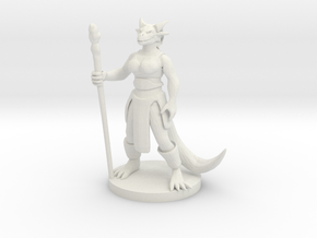 Dragonborn Female Magic Caster in White Natural Versatile Plastic