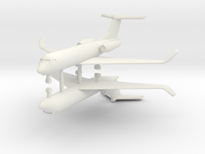 1/500 Low Detail G550 Gulfstream (x2) in White Natural Versatile Plastic
