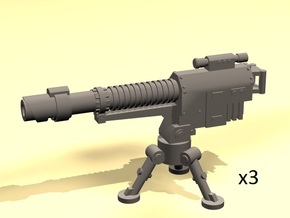 28mm drop laser cannon with tripod (3) in Smooth Fine Detail Plastic