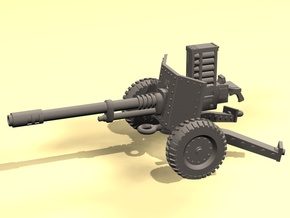 28mm SciFi WW2-style automatic cannon in Smooth Fine Detail Plastic
