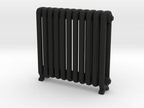 Period Radiator in Black Natural Versatile Plastic