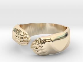 Big Bear Hug ring in 14k Gold Plated Brass: 6.5 / 52.75