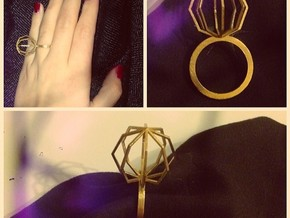 Ngon Ring size 9 in Raw Brass