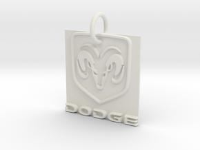 Dodge Pendant in White Natural Versatile Plastic