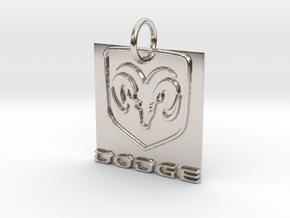 Dodge Pendant in Rhodium Plated Brass
