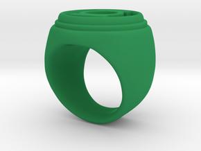 Green Lantern ring v3 - size 7-5 in Green Processed Versatile Plastic