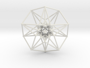 5 Dimensional Toroidal HyperCube 42mm in White Natural Versatile Plastic