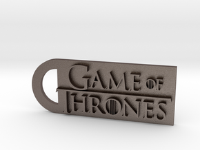 Game Of Thrones Keychain  in Polished Bronzed Silver Steel