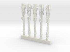 Mk2 - Techno-Mace (x5) in White Natural Versatile Plastic