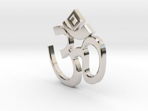 """""""Om sweet Om"""" earring in Platinum"""