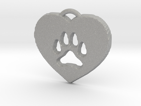 heart paw in Aluminum