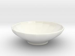 Bowl - series 17 - CUSTOM3D by andr345 in Gloss White Porcelain