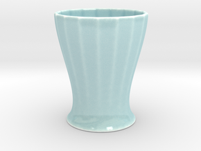HIGH CUP - series 17 - CUSTOM3D by andr345 in Gloss Celadon Green Porcelain