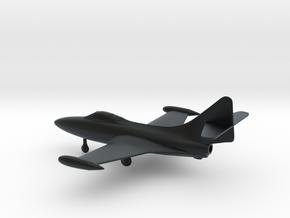Grumman F9F-5 Panther in Black Hi-Def Acrylate: 1:144