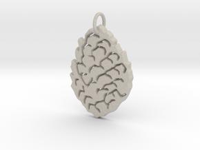 Leaf Pendant in Natural Sandstone