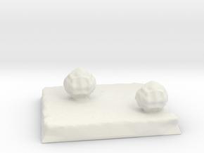 Terrain 2in square with Bushes in White Natural Versatile Plastic