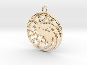Game Of Thrones Pendant in 14k Gold Plated Brass