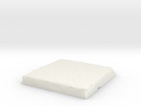 Flat Terrain 2in square in White Natural Versatile Plastic