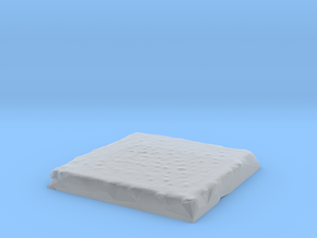 Flat Terrain 2in square in Smooth Fine Detail Plastic