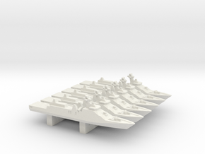 Sigma 10514 Frigate x 6, 1/3000 in White Natural Versatile Plastic
