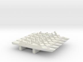 Sigma 10513 Frigate x 6, 1/3000 in White Natural Versatile Plastic