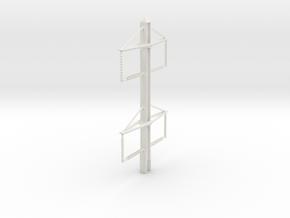 PRR CATENARY S SCALE PH 2-2 TOP in White Natural Versatile Plastic