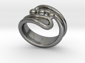 Threebubblesring 20 - Italian Size 20 in Fine Detail Polished Silver
