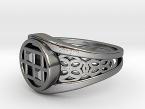 Capareda Twin Ring in Premium Silver