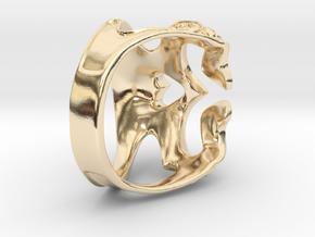 skull ring in 14K Yellow Gold: 9 / 59