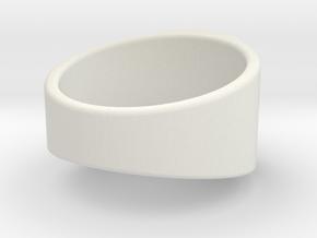 Lantern Ring in White Natural Versatile Plastic