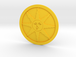 Sunlight Medal in Yellow Processed Versatile Plastic