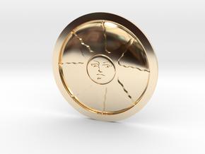 Sunlight Medal in 14k Gold Plated Brass