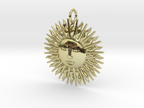 Sonne in 18k Gold Plated Brass