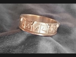 Stargate Ring in 14K Yellow Gold: 10 / 61.5
