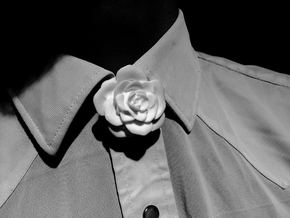Rose Neck Tie in White Natural Versatile Plastic