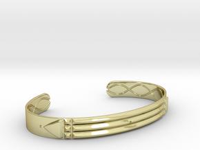 Atlantis Cuff Bracelet in 18k Gold Plated Brass: Small