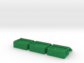 28mm scenery ammo containers in Green Processed Versatile Plastic