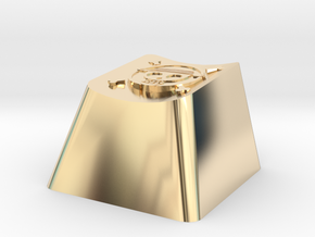 One Piece Cherry MX Keycap in 14K Yellow Gold